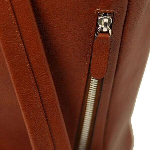 kozeny batoh unisex zipova zadni kapsa