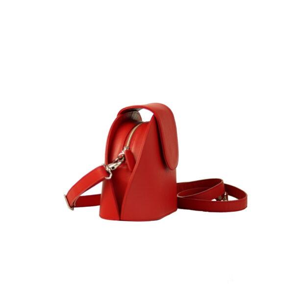 Kozena cervena kabelka