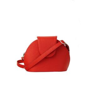 Cervena kozena kabelka