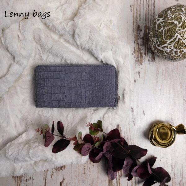 Kožená peněženka dámská šedivá