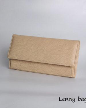 Damska kozena penezenka. V pudrove (nude) barve.