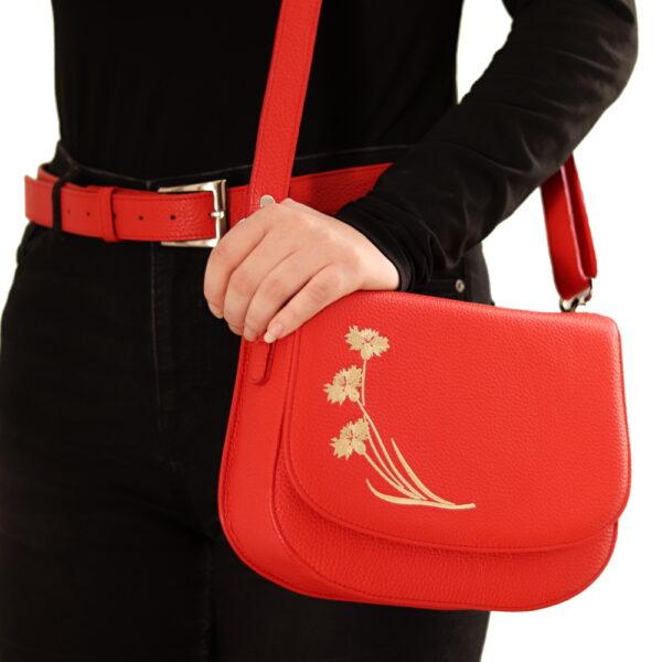 Kozena kabelka s opaskem