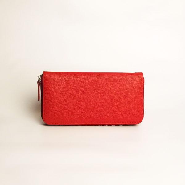Kožená peněženka dámská, červená.