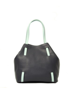 Kozena kabelka modra