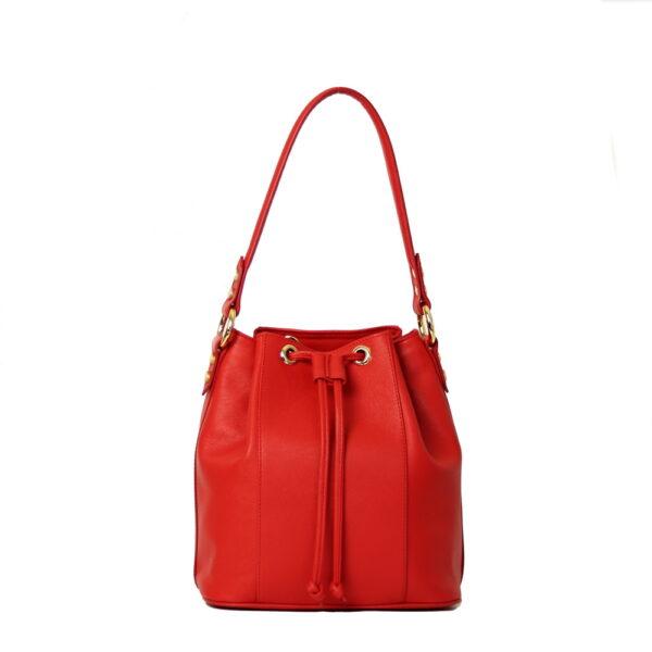Kozena kabelka cervena