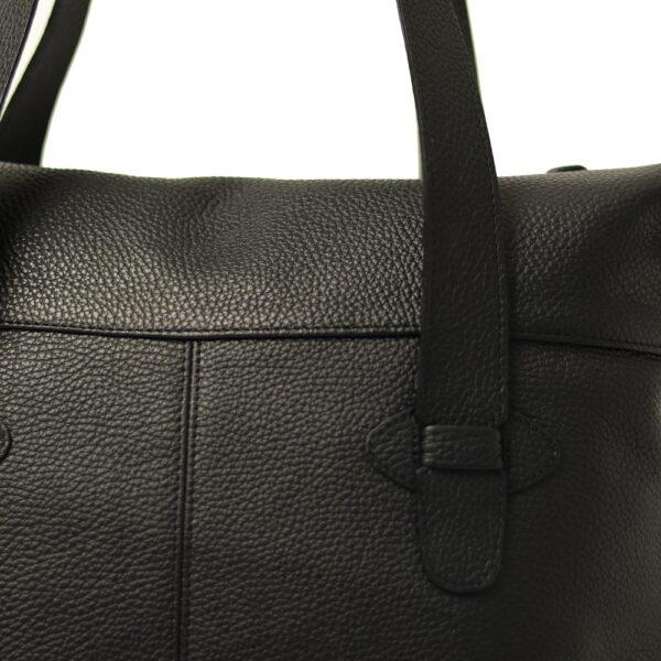 Kozena kabelka cerna