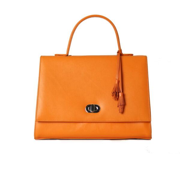 Kozena kabelka oranzova