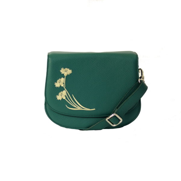 Kozena kabelka zelena