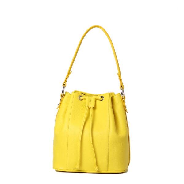 Kozena kabelka zluta
