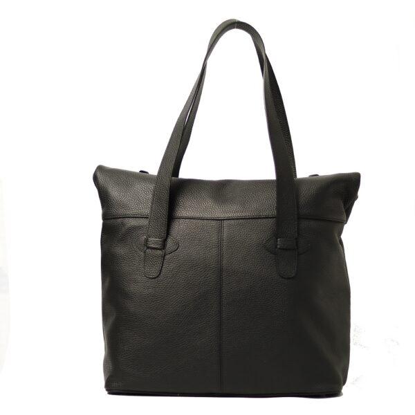 Cerna kozena kabelka